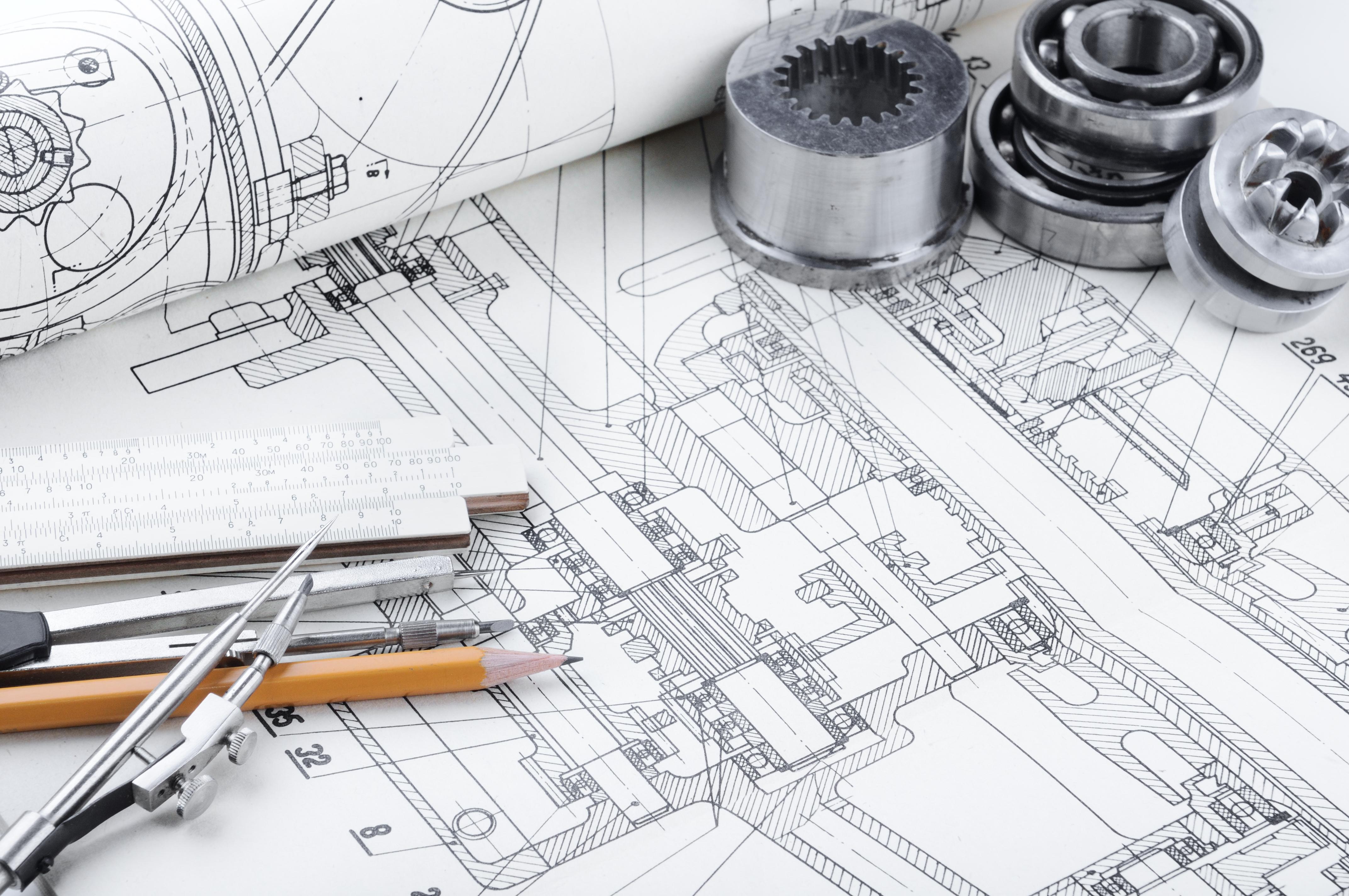 Achtergrond foto Mechanical Engineering