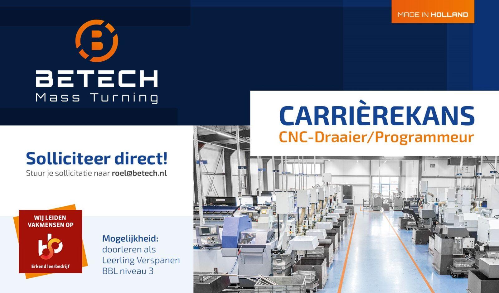 Vacature CNC draaier programmeur