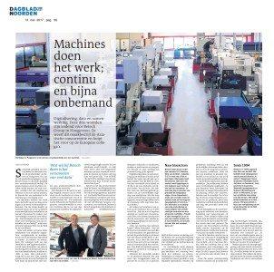 Interview Dagblad van het Noord over Industrie 4.0
